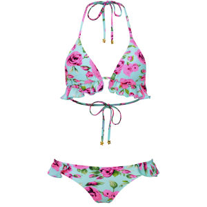 South Beach Women's Claudia Floral Triangle Bikini - Multi