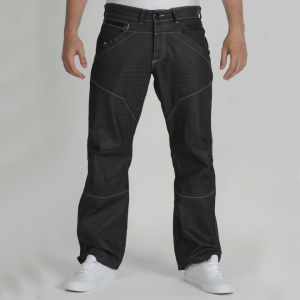 Dissident Men's Denim Jeans - Black Coated Denim