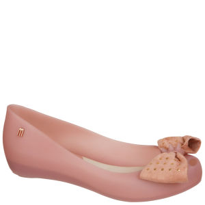 Melissa Women's Ultragirl Sweet Studded Bow Ballet Pumps - Blush Stud