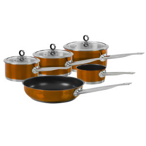 Morphy Richards Accents 5 Piece Pan Set - Copper
