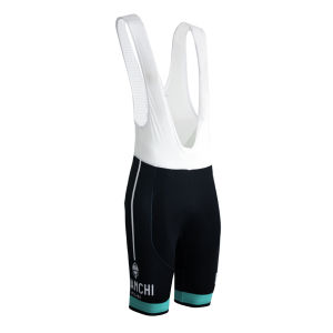Bianchi Condro Bib Shorts - Black/Celeste