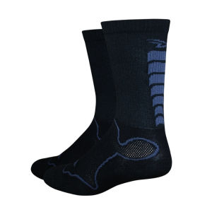DeFeet Levitator Trail Socks - Black/Graphite