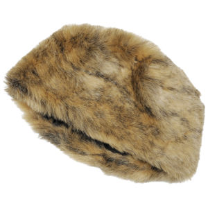 Women's Faux Fur Pillbox Hat - Honey