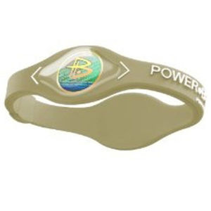Power Balance -The Original Performance Wristband   Khaki With White Lettering