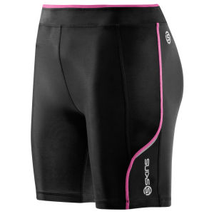 Skins Women's A200 Shorts - Black/Pink
