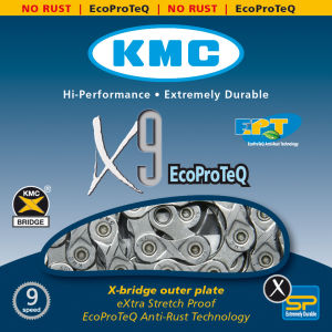 KMC X9 Eco Pro Teq Chain - 116 Links - Silver