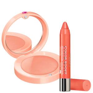 Bourjois Duo-Cream Blush Nude Velvet & Lip Boost Orange Punch
