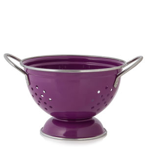 Cook In Colour Small Colander - Plum