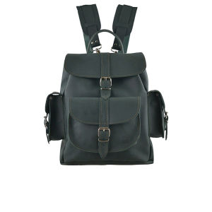 Grafea Envy Medium Leather Rucksack - Dark Green