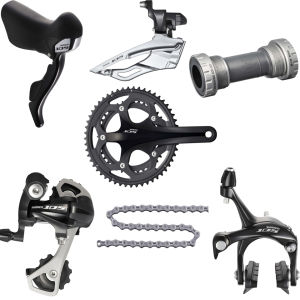 Shimano 105 5700 10 Speed 39/53 Groupset - Black