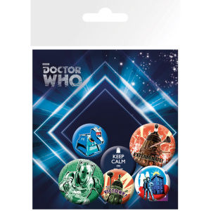 Doctor Who Retro - Pack de Chapas