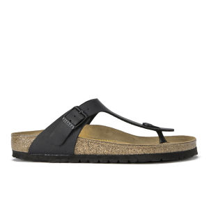 Birkenstock Women's Gizeh Toe-Post Leather Sandals - Black