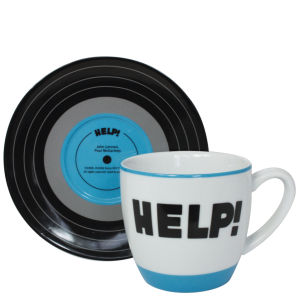 Lennon and McCartney Mug and Saucer Set - Help!
