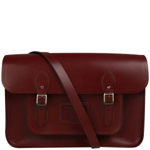 Cambridge Satchel Company 15 Inch Leather Satchel - Oxblood