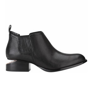 Alexander Wang Women's Kori Leather Ankle Boot - Black Natural Grain