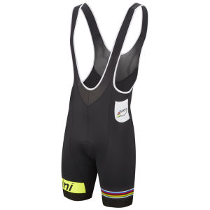 Uci Rainbow Fashion Line Nat Pad Bib Shorts - Black