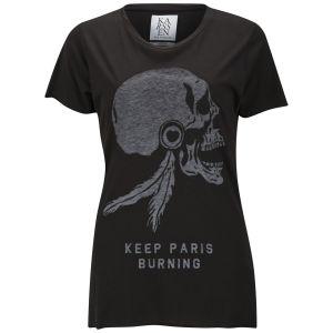 Zoe Karssen Women's Paris Skull T-Shirt - Black