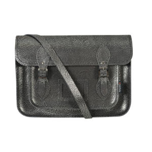 Zatchels 13 Inch Filigree Satchel - Silver
