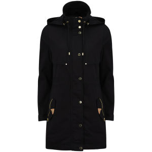 Vero Moda Women's Magnolia Hooded Parka Jacket - Black