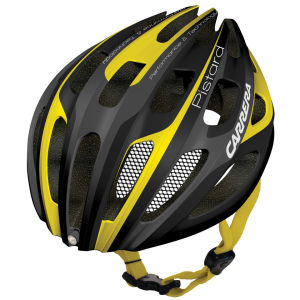 Carrera Pistard Road Helmet with Rear Light Matt Black/Yellow