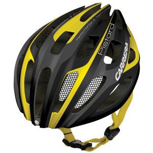 Carrera Pistard 2014 Road Helmet with Rear Light - Matt Black/Yellow