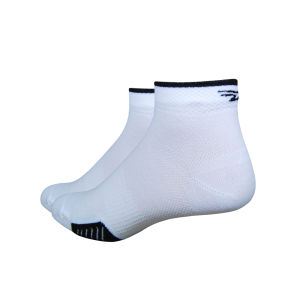 DeFeet Cyclismo 1 Inch Socks - White with Black Stripes