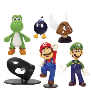 Nintendo Super Mario Mini Figures Series 1 Box Set - 6 Figures