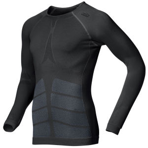 Odlo Men's Evolution Warm Long Sleeve Crew Neck Base Layer - Black