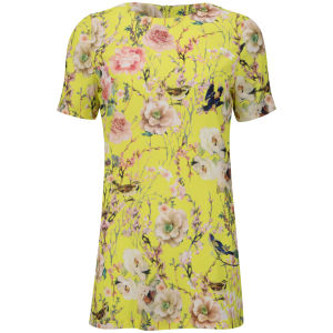 Glamorous Women's Floral Dress - Yellow