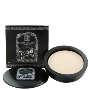 Trumpers Eucris Hard Shaving Soap in Wooden Bowl - 80g