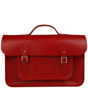 Cambridge Satchel Company 15 Inch Leather Backpack - Red