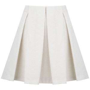 See by Chloe Women's Neon Crinkled Jacquard Skirt - Cream