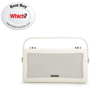 View Quest Hepburn Bluetooth Audio System with DAB+/FM Radio - Cream