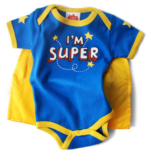 I'm Super Snapsuit Baby Grow by Wry Baby