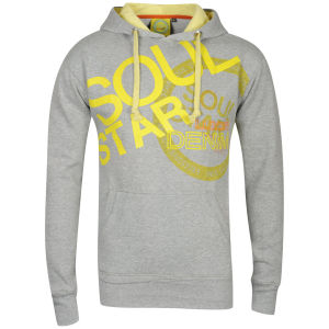 Soul Star Men's Thud DV8 Hooded Sweatshirt - Grey Melange