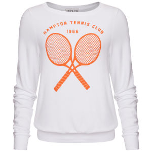 Wildfox Women's Tennis Club '66 Baggy Beach Jumper - Clean White