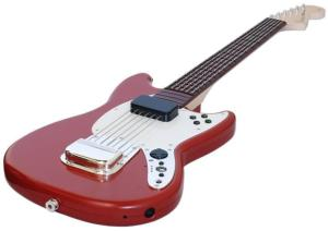 Rock Band 3 Wii Wireless Fender™ Mustang™ PRO-GUITAR™ Controller (Red)