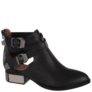 Jeffrey Campbell Women's Everly-PL Leather Ankle Boots - Black