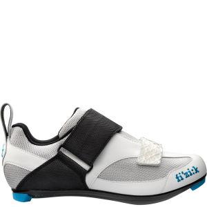 Fizik K5 Triathlon Shoe - Silver/White/Blue