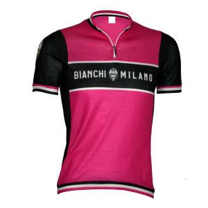 Bianchi Burgio Short Sleeve Jersey - Pink/Celeste