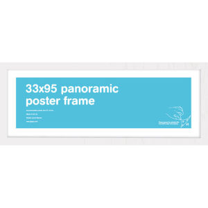White Frame Panoramic - 33 x 95cm