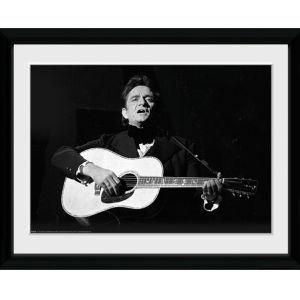 Johnny Cash Guitar - 16x12 Framed Photographic
