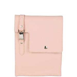 Brit-Stitch Leather Media Bag - Chinz Rose