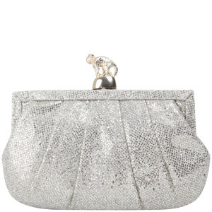 Wilbur & Gussie Margot Clutch - Silver Glitter/Gold Monkey