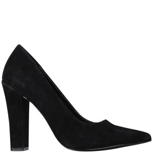 KG Kurt Geiger Women's Calista Suede Heeled Court Shoes - Black