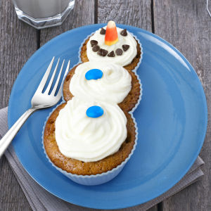 Fred Frosted Snowman Cupcake Moulds