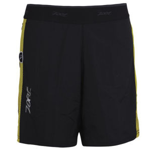 Zoot Run PCH 2-1 7 Inch Shorts - Black/Yellow/Blue