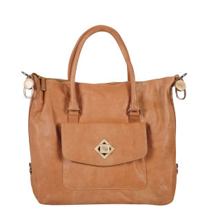 Ted Baker Leather Lock Tote Bag  - Tan