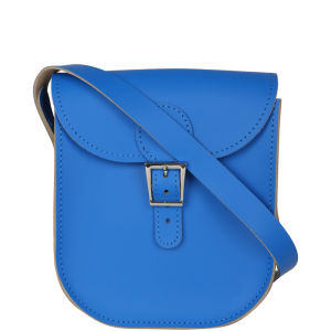 Brit-Stitch Leather Milkman Shoulder Bag - Skydiver