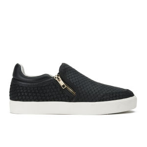 Ash Women's Intense Puff/Nappa Wax Slip-on Trainers - Black